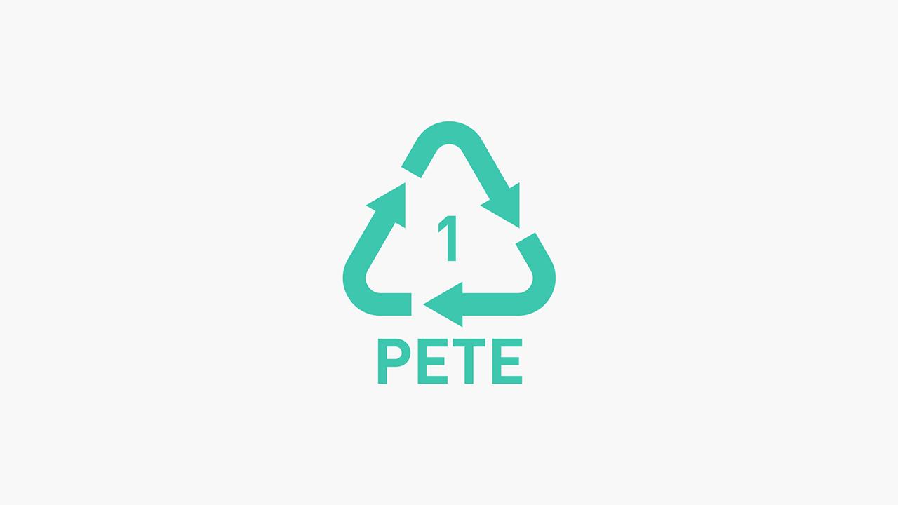 1 PET (Polyethylene Terephthalate) – Recyclable Plastic
