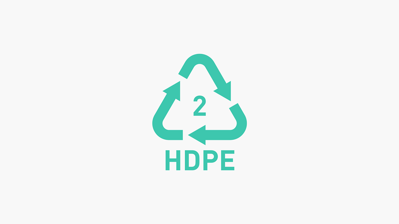 2 HDPE (High Density Polyethylene) – Recyclable Plastic (Check Local Authority)
